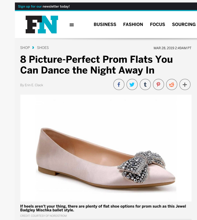 Footwear News - Best Prom Shoes Featuring Jewel Badgley Mischka Zanna