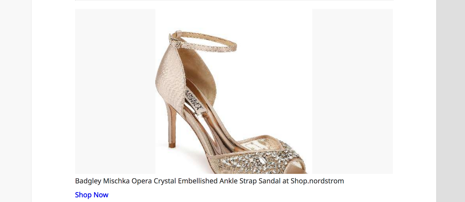 DailyHunt English  IND • Dec 19 • 9:32 pm     Entertainment Mira Rajput wore this metallic gown for Vogue India  Badgley Mischka Opera Crystal Embellished Ankle Strap Sandal at...