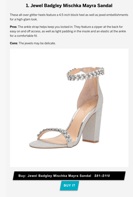 Footwear News  Samantha Peters • USA • Dec 30 • 1:32 pm     Stunning Silver Glitter Heels for the Next Party on Your Calendar