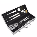Stainless Steel BBQ/Grilling Tool Set With Aluminum Carrying Case