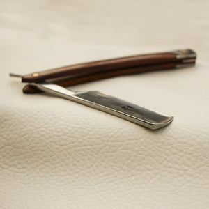 Carbon Steel Straight Razor With Pearwood Handle