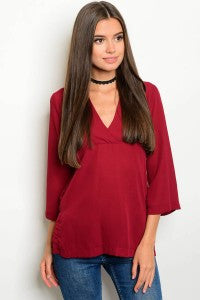 Burgundy Tunic Blouse