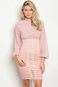 Pink Corset Dress
