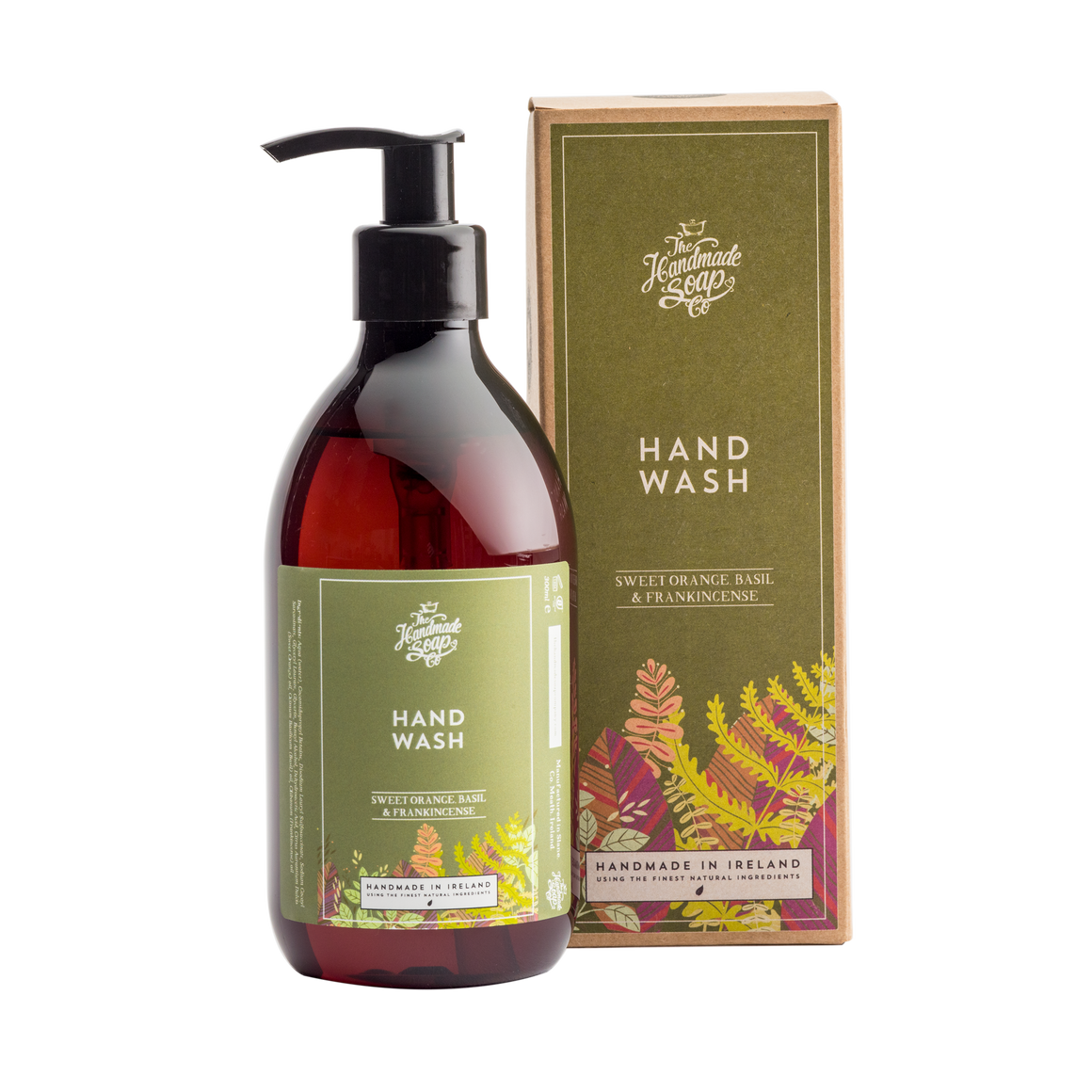 Handmade Soap Co. Sweet Orange, Basil & Frankincense Imported Irish Hand Wash