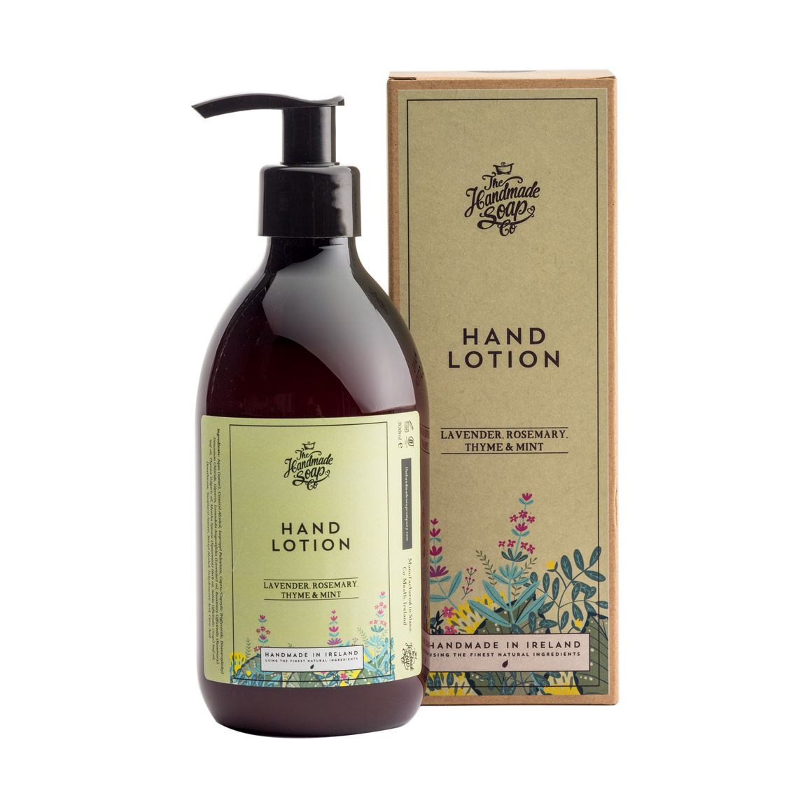 Handmade Soap Co. Lavender, Rosemary, Thyme & Mint Imported Irish Hand Lotion