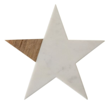 Marble & Wood Star Board