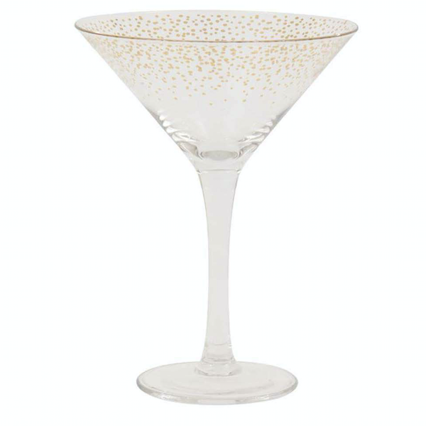 Gold Dot Cocktail Glass (Set of 4)