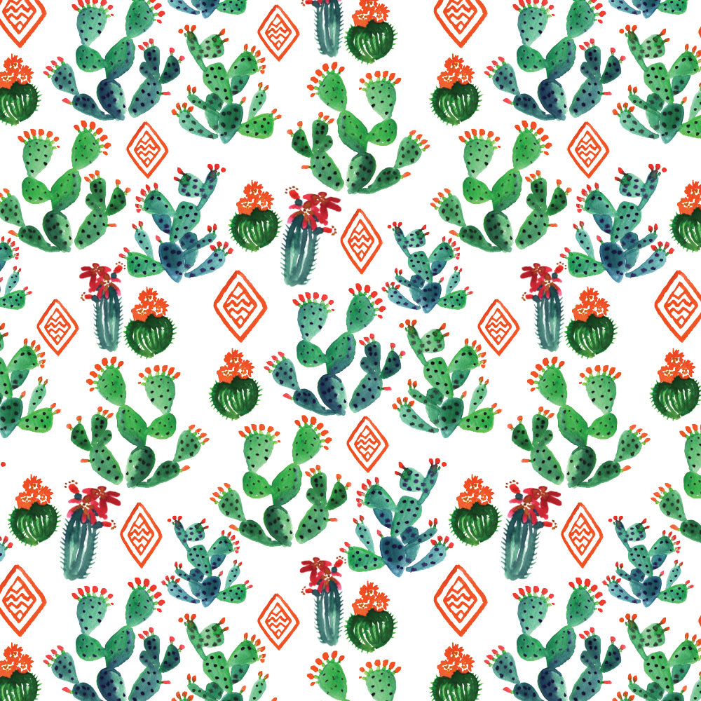 'Merry Cactus' Wrapping Sheet