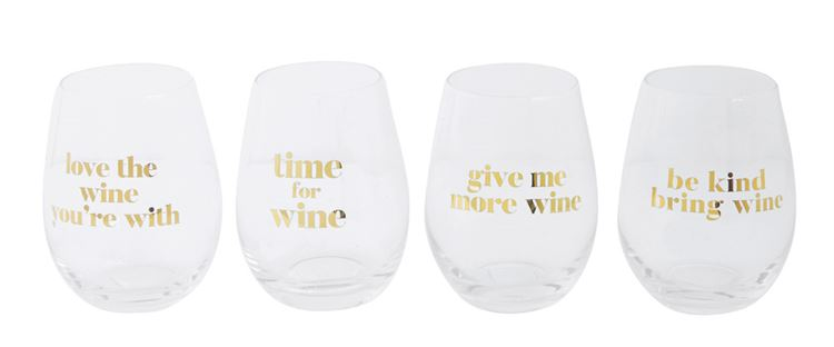 Cliché Stemless Wine Glasses