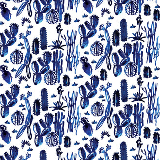 'Indigo Cactus' Wrapping Sheet