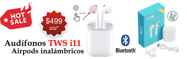 Airpods TWS i11 Inalámbricos Bluetooth Touch