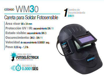 CARETA ELECTRONICA FOTO-SENSIBLE 90X34MM