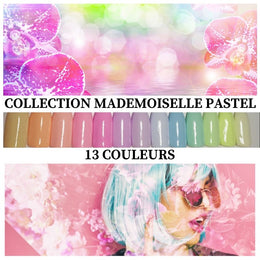 Collection Mademoiselle Pastel - Poudres de Trempages - Distribution et Académie Diva inc.