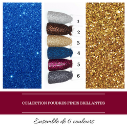 Collection Poudres Fines Brillantes (6 couleurs) (À L'UNITÉ)