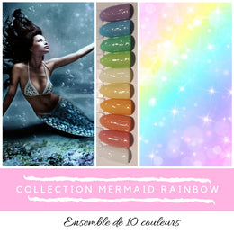 (À L'UNITÉ) Collection Mermaid Rainbow - Poudres de Trempage - Distribution et Académie Diva inc.