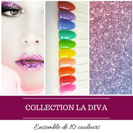 (À L'UNITÉ) Collection La Diva - Poudres de Trempage