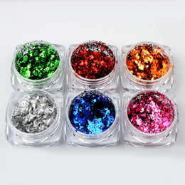 Collection Flocons Chromes (6 couleurs)
