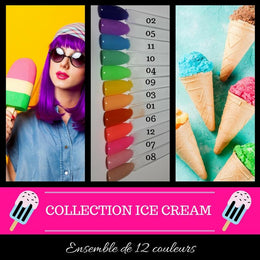(À L'UNITÉ) Collection Ice Cream - Poudres de Trempage - Distribution et Académie Diva inc.