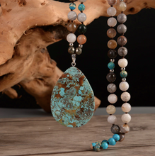 Load image into Gallery viewer, Kaya Turquoise Stone Mala Necklace