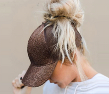 Load image into Gallery viewer, Sequin Ponytail Baseball Hat