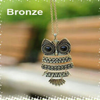 Owl pendant with chain