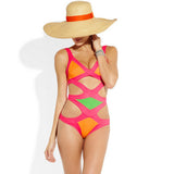 Bandage Patchwork Swimsuit