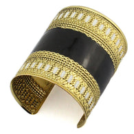 Black and White Vintage Cuff Bangles