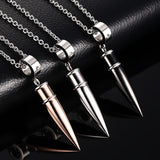 Punk Rock Bullet Pendant Necklace