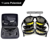 Daisy C5 Polarized Army, Military Sunglasses 4 Lens Kit