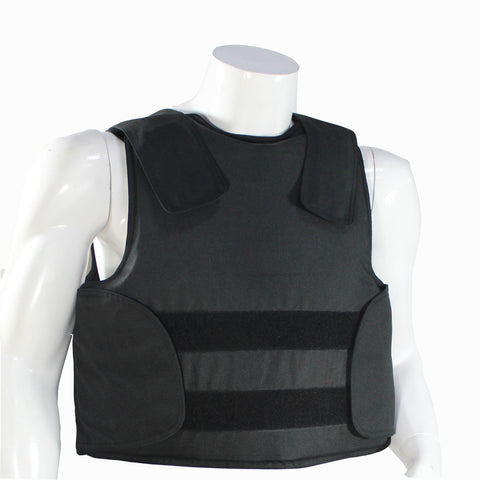 Kevlar Bulletproof Vest Body Armor jacket Size M Black Color