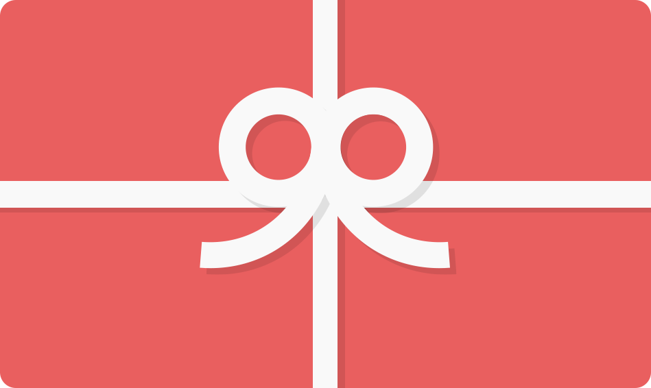 pink gift card with bow