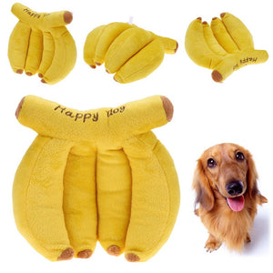 Dog Toys Pet Puppy Chew Squeaker Squeaky Plush Animals And Banana Squeaker Sound Toy