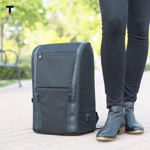 The Taskin Edge - Slim Professional Laptop Backpack for Business & Travel - Jet Black