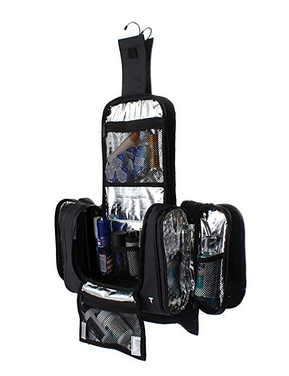 Hanging Toiletry Bag w/Built-in 4 Suction Cups, Water Resistant by Taskin San Francisco