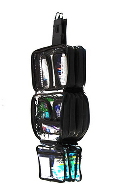 Taskin Xpress Compact Hanging Toiletry Bag w/Built-in 4 Suction Cups