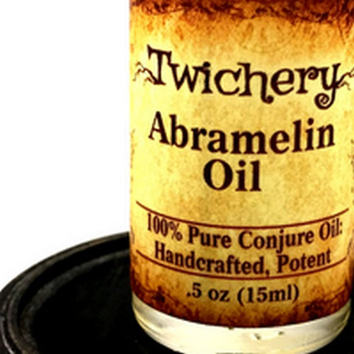 Twichery Abramelin Oil is for ritual preparation, sacred magic, and anointing ceremonial/ritual tools.