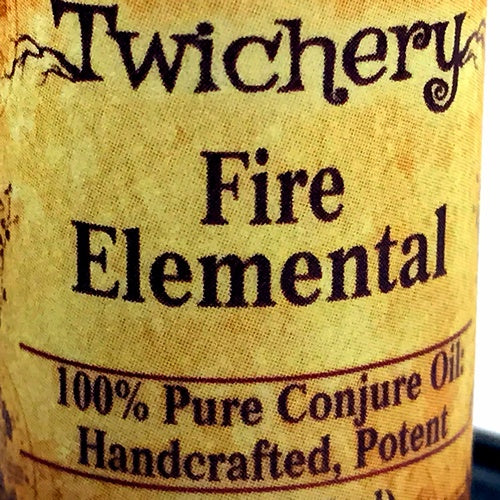Fire Elemental Oil for transformation, rituals, mojo, lucky, barefoot, root, art, pagan, witchcraft, wicca