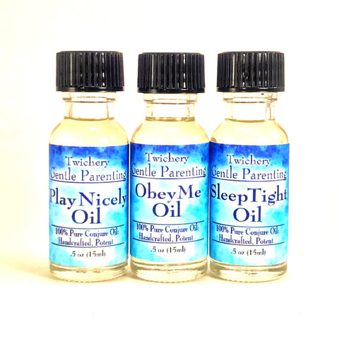 Twichery Gentle Parenting Oils Trio is for kindly and magickally helping young children grow and develop.