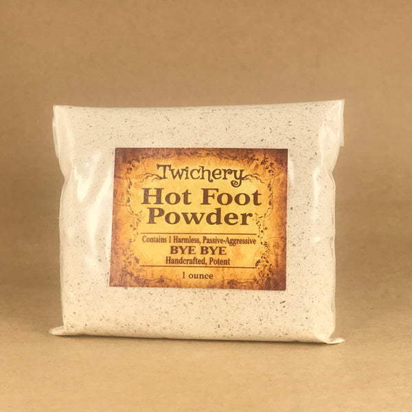 Twichery Hot Foot Powder is for harmlessly getting rid of people you want out of your life. Hoodoo Voodoo Twichery Witchcraft