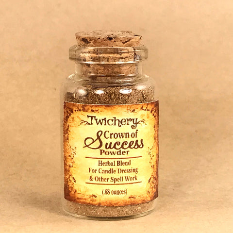 Twichery Crown of Success Herbal Powder is for all goal-setting purposes. Excellent for candle dressing and spell casting. Hoodoo  Voodoo Wicca Pagan Traditional Witchcraft