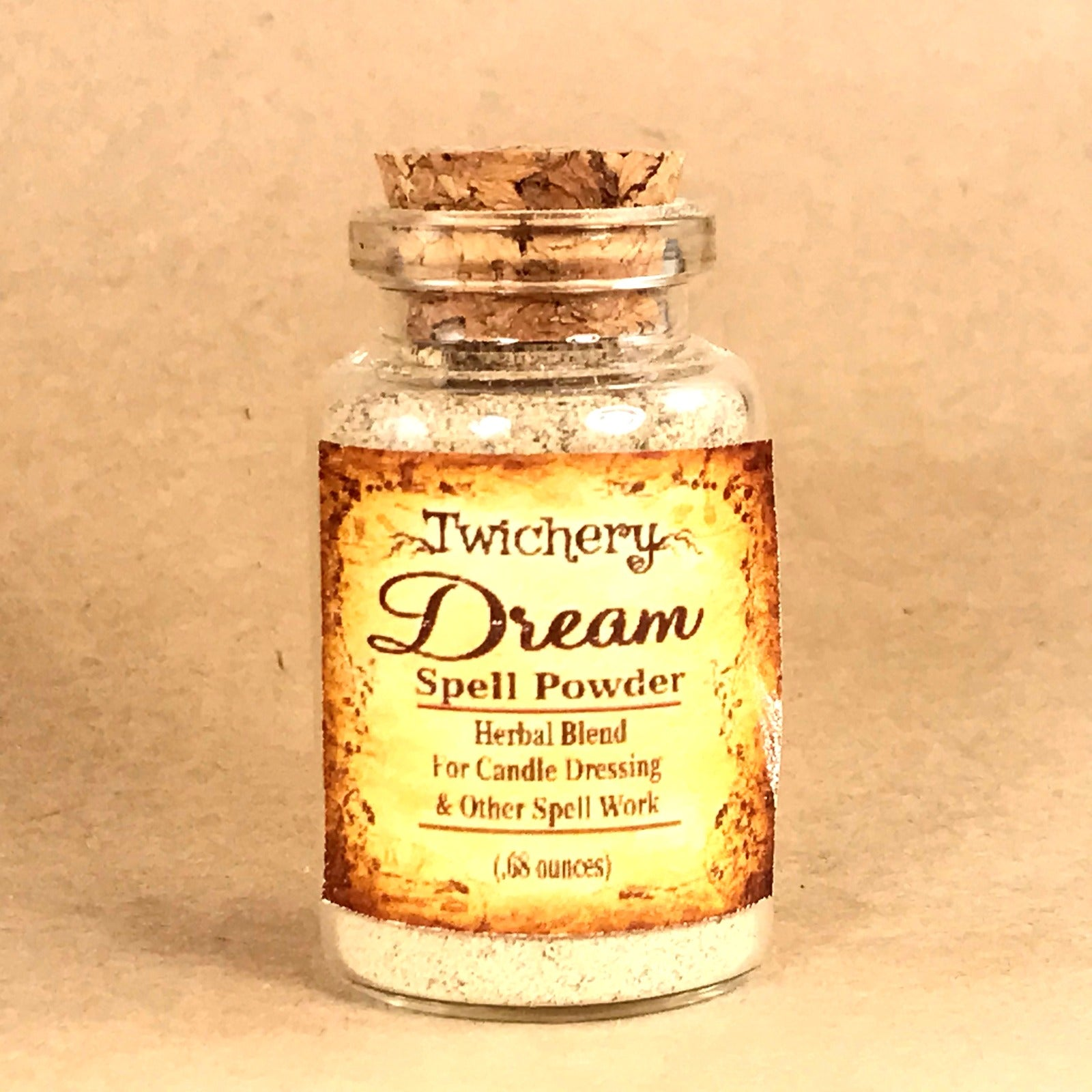 Twichery Dream Spell Powder is for lucid dreaming and receiving revelations through subconscious means. Hoodoo Voodoo Twichery Pagan Wicca
