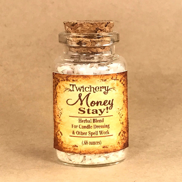 Twichery Money Stay Herbal Blend is for spells aimed at protecting wealth. Hoodoo Voodoo Traditional Witchcraft