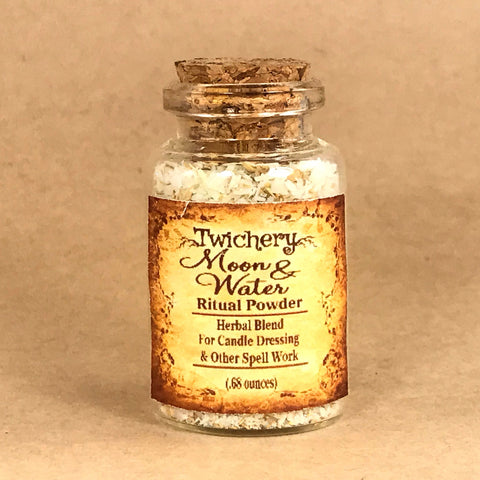 Twichery Moon & Water Herbal Blend is consecrated by one full moon cycle and is particularly useful for all rituals involving the element of water. Twichery Traditional witchcraft root art