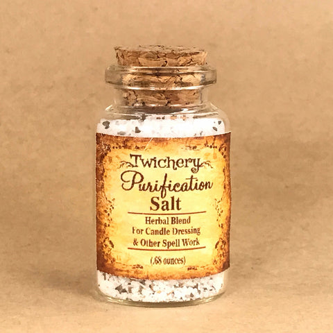 Twichery Purification Salt is for all rituals involving purification. Can be used in small quantities for cleansing certain crystals. Hoodoo Traditional Witchcraft