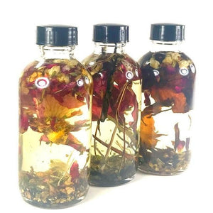 Love Oils Trio, Twichery, Lucky, Hoodoo formula, anointing oil, dressing oil, love spells, pagan divination