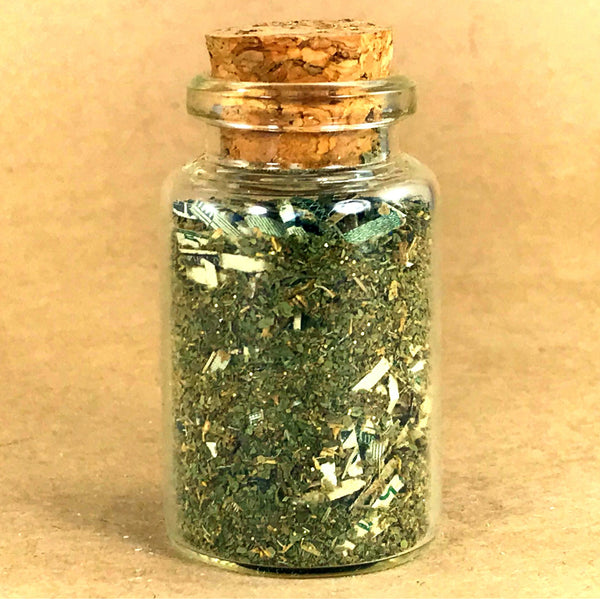 Twichery Money Drawing Herbal Blend is for overall prosperity and good luck. Particularly effective with our Shi Shi Oil. Hoodoo Voodoo Witchcraft