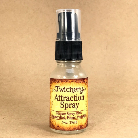 Twichery Attraction Spray .5 ounce: Purse-size! Attract new love, luck, money, new opportunities, Hoodoo, Voodoo, Traditional Witchcraft, Pagan