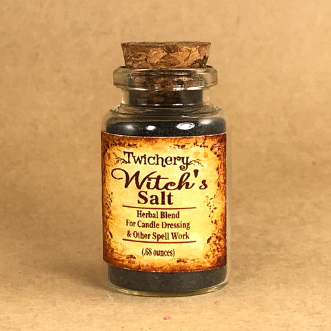 Twichery Witch's Salt is absorbs and immobilizes negative energies. Excellent for protection spells and countering hexes and jinxes. amazon root art lucky mojo alchemy