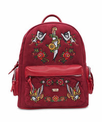 SIREN SUEDE BACKPACK - OXBLOOD - The Plug Dallas