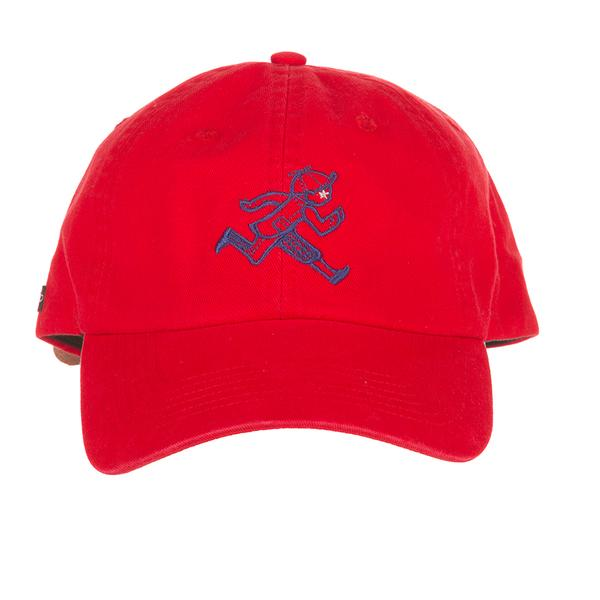 Education is what remains when one has forgotten everything he learned in school. The Mascot Dad Hat features a embroidered logo at front and leather strap at back.